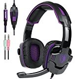 ETbotu Stereo Gaming Headset 3.5mm Gaming Headsets with Microphone Noise Cancellation Music Headphones for PS4 Laptop Tablet PC