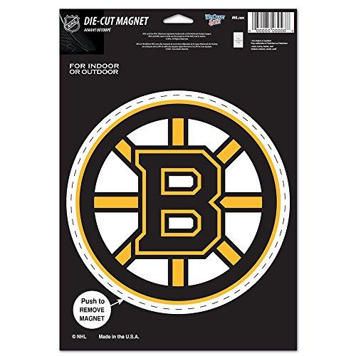 NHL Boston Bruins 85636010 Die Cut Logo Magnet, Small, Black Bruins Magnet