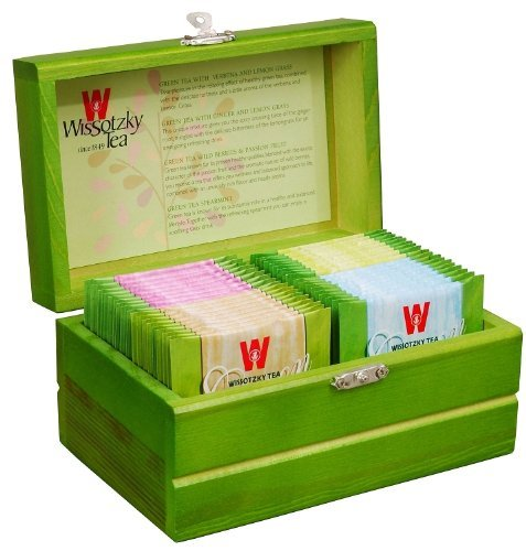 WISSOTZKY Mini Green Tea Chest (4 Flavors), 1.97-Ounce Boxes