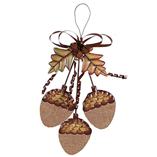 Grace Home Wood Autumn Fall Harvest Hanging Acorn Cluster Front Door Decoration Wall Decor Sign Thanksgiving Decorative Ornaments