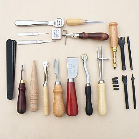 Aghi Attrezzi per cucire da artigianato DIY 14 Pezzi Set di Cuoio Filo Cucito