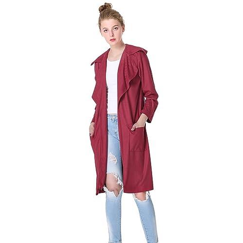 WanYang Mujeres Otoño Blusa Chaqueta Outwear Casual Cardigan Top Jacket Parka Pullover