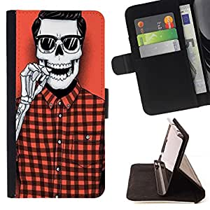 For Samsung ALPHA G850 Fox Roar Beautiful Print Wallet Leather Case Cover With Credit Card Slots And Stand Function