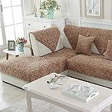 Sofa cushions,fabric plush combination back towel european sofa cover,winter anti-skid thickened full cover cover-E 90x240cm(35x94inch)
