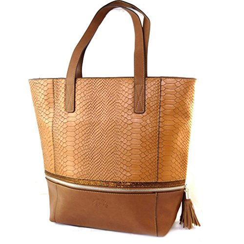 Bag designer Romymarrone cammello - 39.5x34.5x12 cm.