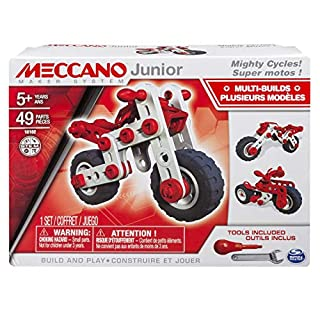 Meccano-Erector Junior, 3 Model Building Kit, Mighty Cycles