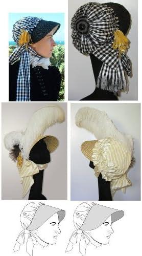 Vintage Hats   Old Fashioned Hats   Retro Hats Regency Period Bonnet Pattern  AT vintagedancer.com