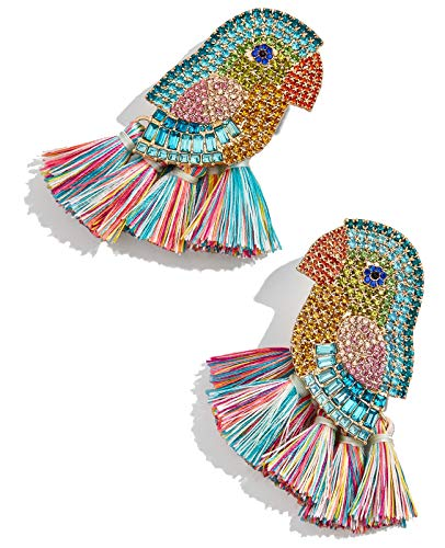BEST LADY Tassel Earrings for Women - Statement Handmade Dangle Fringe Earrings for Women, Idea Gift for Sister, Wife and Friends (Bird)
