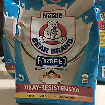 Amazon Com Bear Brand Fortified Powdered Milk Drink W Iron Zinc Vitamin C 700gr Philippines Grocery Gourmet Food