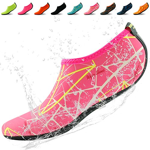 Acqua Aqua Scarpe, Casa Pantofola Donna Mens Unisex Piscina Nuoto Neoprene Immersioni Surf Calzini Rosa Rosa