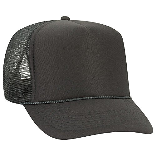 OTTO Polyester Foam Front 5 Panel High Crown Mesh Back Trucker Hat - Char. ()