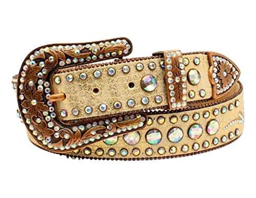 Nocona Women's Scroll Round Concho Belt Gold Large (Gold Concho Belt)