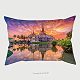 Custom Satin Pillowcase Protector Landmark Wat Thai Sunset In Temple At Wat None Kum In Nakhon Ratchasima Province Thailand 238473214 Pillow Case Covers Decorative