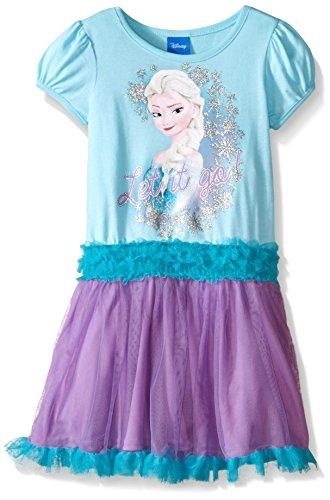 Disney Girls Aqua Frozen Dress