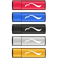 USB Flash Drive 16GB, Techkey Eagle Totem Souvenir of Chinese Calligraphy, 5 Pack, 5 Colors ( Black, Blue, Gold, Red and Silver)