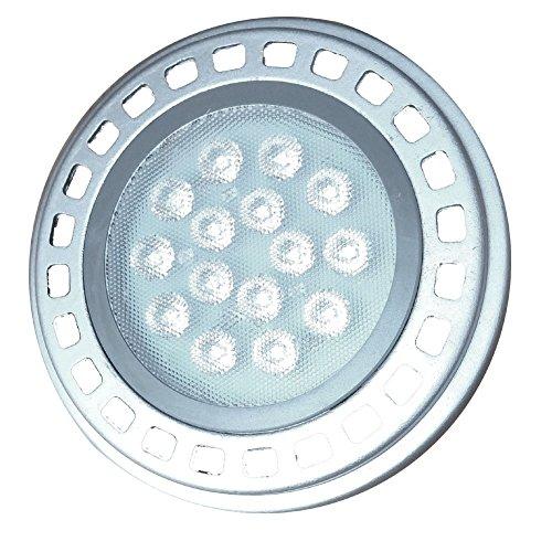 Led AR111 Reflector Light Bulb G53 Spot Light 15W 30°Beam Warm White 3000k 12V Spotlight TrackLight 1200Lm Replacement Incandescent Halogen Bulb 120w Ar111 G53 Downlight Wall Light