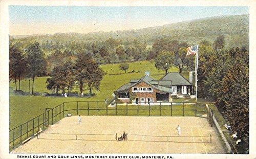 Monterey Pennsylvania tennis courts Monterey Country Club antique pc Z9475