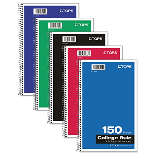 - Oxford 3-Subject Notebook, 6