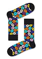 Happy Socks Smile print socks are made from premium material to keep your feet comfortable, no matter where you are. Our colorful styles are sure to put pep in your step throughout any activity. Get creative with some brand new Happy Socks Sm...