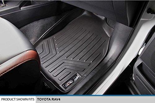 SMARTLINER Floor Mats 1st Row Liner Set Black for 2013-2018 Toyota RAV4 All Models
