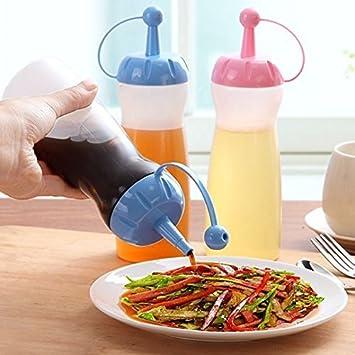 Dealglad® Cocina ecológica engrasador leakproof sello Alimentos vinagrera condimento Ketchup Salsa Condimentos Botellas de miel (Random Color): Amazon.es: ...