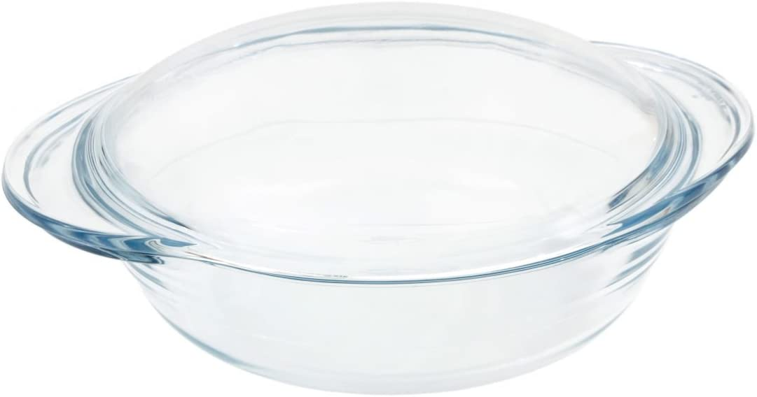 Marinex 1.9lt cristal redondo microondas horno para horno fuente ...