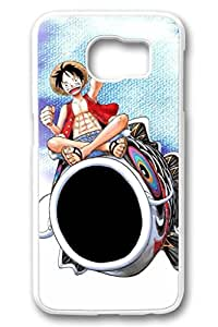Samsung Galaxy S6 Case,White(PC)Hard Plastic Case For Samsung Galaxy S6[5.1 Inch](Can be customized)Anti-Knock,Non-Slip,Ultra-thin case,Shock-Absorption Bumper-One Piece Anime315