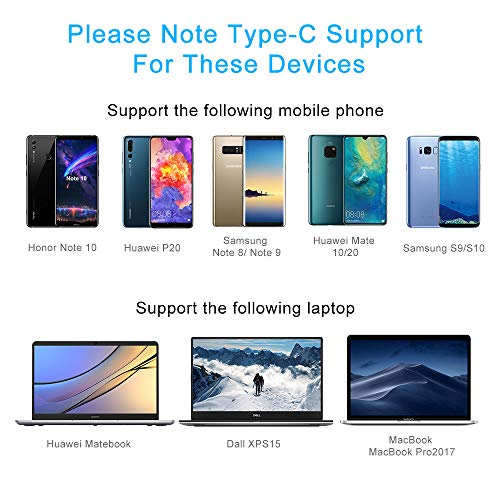 USB C to HDMI Cable with PD(4K@60Hz), thunderbolt 3 to hdmi Type C to HDMI for MacBook Pro 2018/2017, iMac 2017/iPad Pro 2018, Dell XPS 12/13/15,Surface Book 2,Samsung S10/S9,Huawei Mate 20, 6ft Black