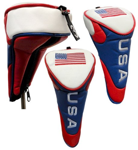 USA Stars and Stripes Golf Headcover for Fairway Woods, Outdoor Stuffs