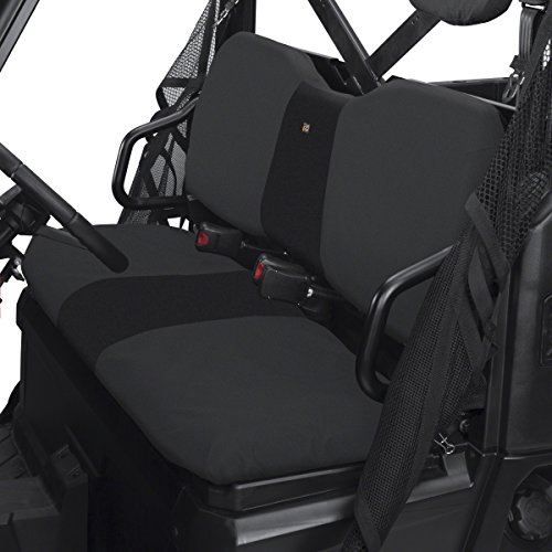2007 Round Head Nails - Classic Accessories QuadGear UTV Seat Cover for Polaris Ranger XP/HD (Bench), Black