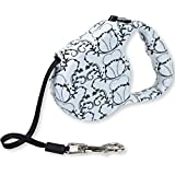 Retractable Dog Leash - Get the Best Retractable Leashes for Dogs up to 33 lbs. Keep your pets safe and secure with Cutie Pet's Extendable Dog Leash. Made from materials this dog leash is designed to never tangle and always retract properly. The leash extends up to 16 feet and Our flat leash design and coupler can handle dogs up to 33lbs in weight. Your Retractable Dog Leash comes with a 100% Lifetime Replacement Guarantee so get the best Retractable Dog Leash for your dog today! (Black and White FBM)