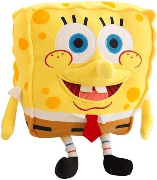 YYQIANG Regalos de caracteres en 3D Bob Esponja de juguete de felpa suave Simulación animado cosplay muñeca de dibujos animados almohadilla de la felpa de algodón PP realista de marionetas divertido c
