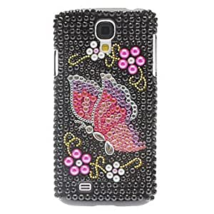 Mini - Rhinestone Decorated Elegant Butterfly Pattern Hard Case for Samsung Galaxy S4 I9500