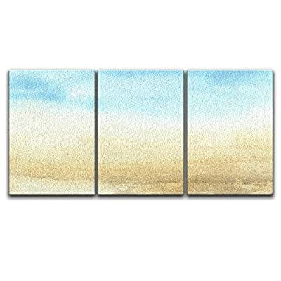 With Expert Quality, Amazing Print, 3 Panel Watercolor Painting Style Seascape x 3 Panels