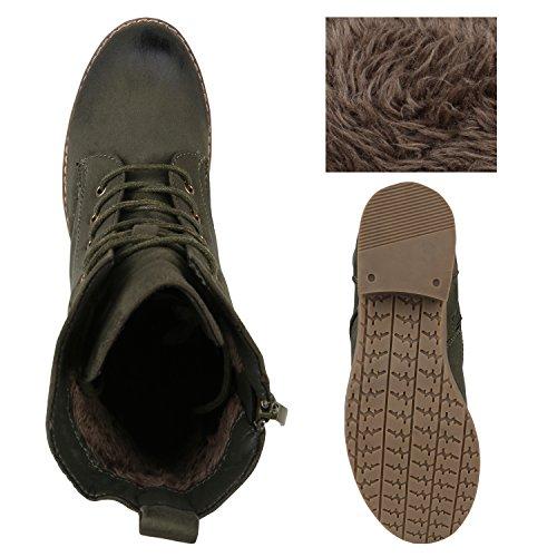 ... Stiefelparadies Damen Stiefeletten Zipper Leicht Gefütterte Stiefel  Schnürstiefeletten Wildleder-Optik Damenschuhe Übergrößen Modische Boots  Flandell f3c1c316b7