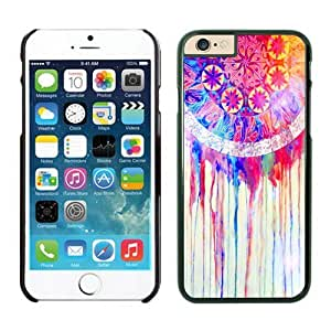 Iphone 6 Plus Case 5.5 Inches, Diy Colorful Dream Catcher Black Phone Protective Cover Case for Apple Iphone 6 Plus