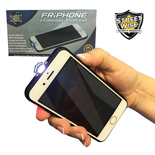 (Streetwise Smart Cell Phone STUN GUN - 14,000,000 Volts w/LED Flashlight and Loud Alarm)