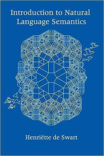 Kostenloser Download im E-Book-Format Introduction to Natural Language Semantics (Lecture Notes) PDF MOBI