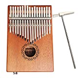 17 Keys Electric Kalimba Thumb Piano Finger Piano Mahogany Body Musical Toys with Tuning Hammer,the Best Guide for Music Lovers for Beginners and Kids