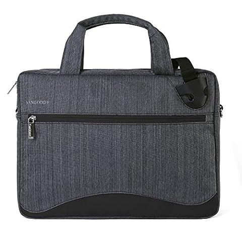 VanGoddy Wave Slim Charcoal Anti Theft Messenger Bag for MSI X Leopard / GT / Apache / Stealth / Dominator / Mobile Workstation (Msi Gt70 Gtx980)
