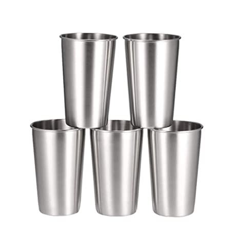 5 PCS Vasos de Cerveza de Acero Inoxidable Vaso Jarra de ...