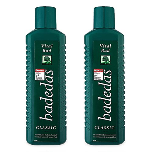Delicate Bath Gel (Badedas Vital Bad Bath Gel, 750 mL/25 oz. Each Bottle, 2 Piece)