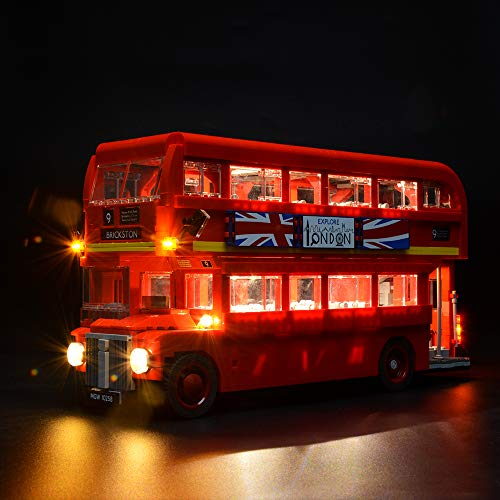 Briksmax Led Lighting Kit for London Bus - Compatible with Lego 10258 Building Blocks Model- Not Include The Lego Set (London Lego Bus)