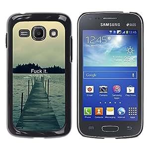 Caucho caso de Shell duro de la cubierta de accesorios de protección BY RAYDREAMMM - Samsung Galaxy Ace 3 - Fck It - Tipografía