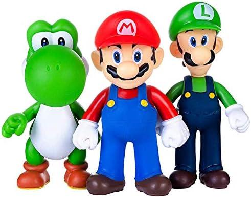 AINOLWAY 3pcs / Set Super Mario Toys - Figuras de Mario y Luigi - Figuras de acción de Yoshi y Mario Bros Figuras de Juguete de PVC de Mario: Amazon.es: Juguetes y juegos