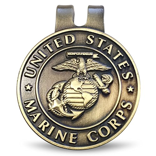 US Marine Corps Hat Clip, Ball Marker, Small Money Clip by Old Dominion LLC