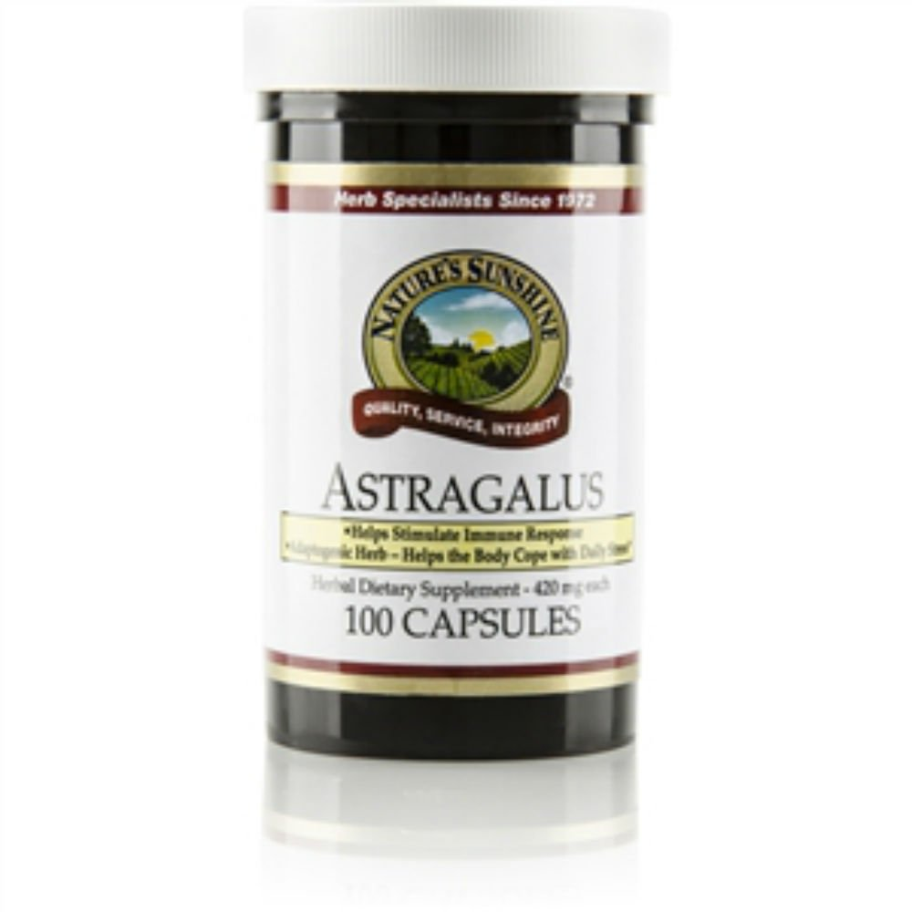 Naturessunshine Astragalus Herbal Dietary Supplement , 100 caps Each (Pack of 4)