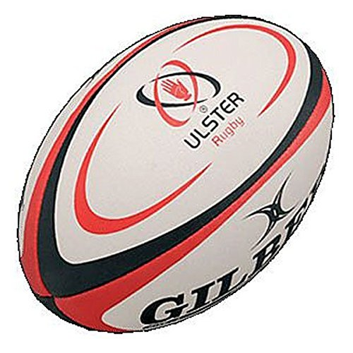 GILBERT Ulster Replica Mini Rugby Ball , Mini (Rugby Kids Ball)