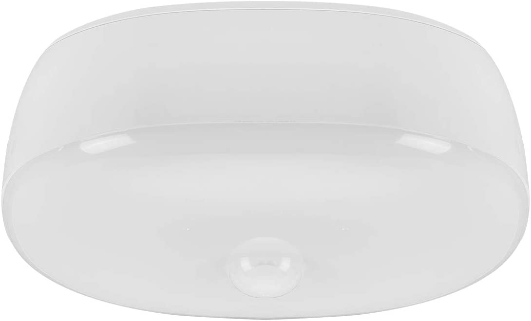 Youtob Wireless Motion Sensor Light Battery Operated LED Ceiling Light 300 Lumens 5W for Indoor Outdoor, Closet, Pantry, Stair, Garage, Basement, Shower(4000K Cool White)