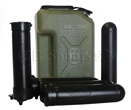 (Paintball Caddy Pod Jerry Can shaped with 5 140 Round pods &1 Ball Hauler)